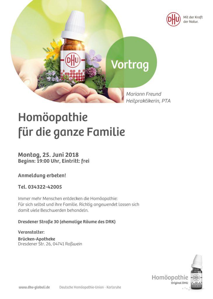 Vortrag Homöopathie für die ganze Familie